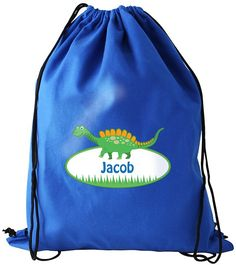 Personalise this Dinosaur Swimbag with a name up to 20 characters.