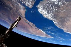 """European Space Agency astronaut Samantha Cristoforetti took this photograph from the International Space Station and posted it to social media on Jan. 30, 2015. Cristoforetti wrote, """"A spectacular flyover of the Gulf of Aden and the Horn of Africa. #HelloEarth"""""""