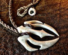 Whale Bone Honu Makau carving by Master Carver Ben Muti, Makau Nui, Hawai'i.