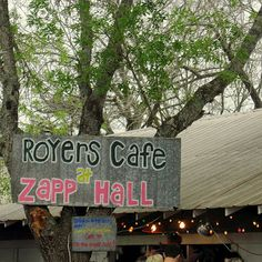Royer's Cafe at Zapp Hall - Tracy LOVES Bud's Pecan Pie!