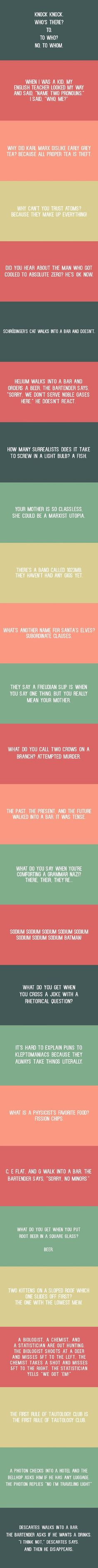Clever and nerdy jokes