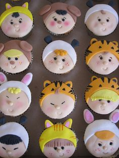 Adorable Baby Suit Cupcakes and many more cupcake ideas on the site!!!! - thecupcakeblog