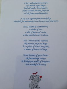 A poem about 'My Son' and being parents  to a little boy read out by me on behalf of the parents at my baby naming ceremony yesterday.