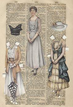 Tutoriales y DIYs: Muñeca de papel vintage
