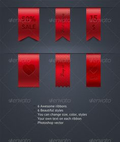 Ribbons - Badges & Stickers Web Elements