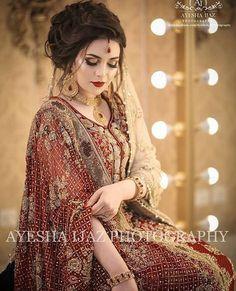 😍😍 #pakistanibride #pakistaniwedding #pakistanifashion #pakistanibridal #dulhanstyle #pakistaniweddings #bridalinspo #bridalglam 📸… Latest Bridal Dresses, Bridal Mehndi Dresses, Pakistani Wedding Outfits, Bridal Dress Design, Pakistani Wedding Dresses, Bridal Outfits, Bridal Style, Pakistani Wedding Hairstyles, Beautiful Bridal Dresses