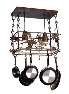 Lighted Pot Racks - Antiqued Copper & Handcrafted in the USA