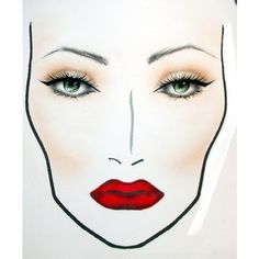 makeup M.A.C Face Charts I like ❤ liked on Polyvore featuring beauty products, makeup, m.a.c, m.a.c makeup and m.a.c cosmetics