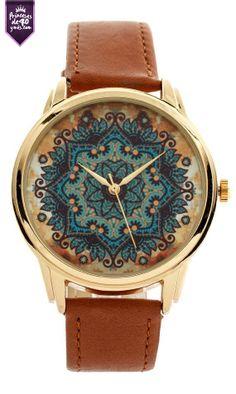 Un hermoso reloj para complementar un outfit con toques asules, cafes o dorados #princesasde40 #style #loveit