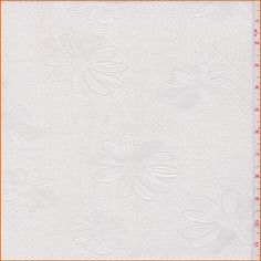 White Floral Pique Jacquard - 28953 - Fabric By The Yard At Discount Prices - $4.95