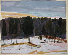 "Harry Stooshinoff  ""Edge,"" acrylic/collage"