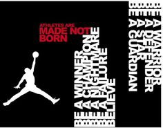 Neville Brody did a advertisement about basketball players for the fans in August of 2010, saying that they weren't born like that, they made themselves like this. the shape of a player making a shot & on illustractor using a typography of the white words describing to be a winner & etc & using the red typography to grab peoples eyes. I like this because Neville Brody is using a silhouette to describe the bill board & using the red to draw them in.