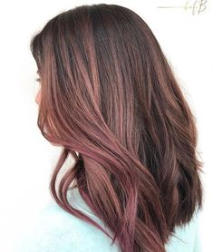 rose mauve hair