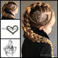 Three strand pull through braid with cornrows and a beautiful hairclip from the webshop www.goudhaartje.nl (worldwide shipping).   Hairstyle inspired by @vlechtidee  @marissshaarcreaties  @prettylittlebraids (instagram, facebook)   #hair #hairstyle #braid #braids #plait #trenza #peinando #beautifulhair #longhair #blonde #gorgeoushair #stunninghair #hairaccessories #hairinspo #braidideas #hairstylesforgirls #cornrows #coolhair #goudhaartje