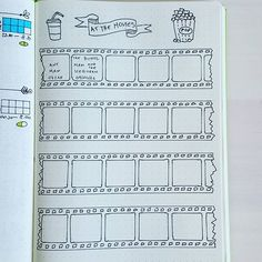 film bullet journal page * film bullet journal ; film bullet journal page ; Journal Layout, My Journal, Journal Pages, To Do Planner, Passion Planner, Planner Bullet Journal, Bullet Journal Inspiration, Sketch Note, Journal Organization