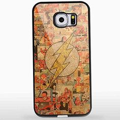 Flash Superhero Logo Collage Art for Iphone and Samsung Galaxy Case (Samsung S6 Black)