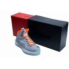 www.asneakers4u.com Nike Zoom Lebron 10 Luminous Limited Edition Shoes Gray/Orange