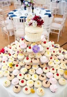 Cup cakes wedding cake