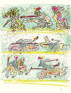 Litografías sobre el Quijote del pintor Matta