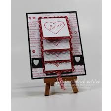 Just For Fun Rubber Stamps: Waterfall card Love Valentines, Valentine Heart, Valentine Day Cards, Die Cut Cards, Love Cards, Fancy Fold Cards, Folded Cards, Waterfall Cards, Thing 1