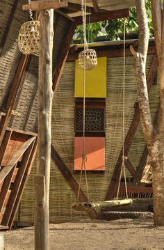 "TYIN Tegnestue – a group of young and talented student architects – designed this fabulous project in Noh Bo, Tak in Thailand as an ideal accommodation for 50 local children. The are called ""Butterfly Houses"" because of the natural ventilation from the roof tops, which also collect rainwater for re-use. The houses are prefabricated & assembled using bolts to provide strength & durability to the structure."