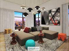 O lounge perfeito para relaxar, receber os amigos e aproveitar a sua playlist. #camilakleinarquiteta #lounge #sofa #cozy #momentorelax