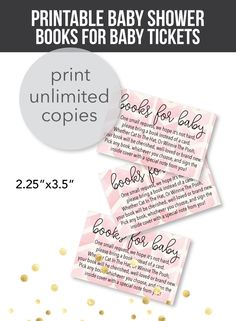Printable Pink Arrow Books For Baby Cards For A Baby Shower - Print It Baby