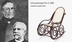 Schaukelsessel by Jakob & Joseph Kohn has already been created in 1882 and is a classic approach to the design of rocket chairs.