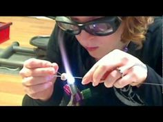 Applying Scrolls with Stringer on a Lampwork Bead