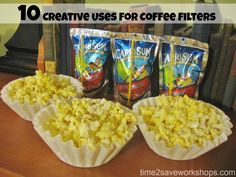 10 Creative uses for Coffee Filters  Great time savers! #frugal