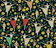 Ballet fabric by susan_polston on Spoonflower - custom fabric
