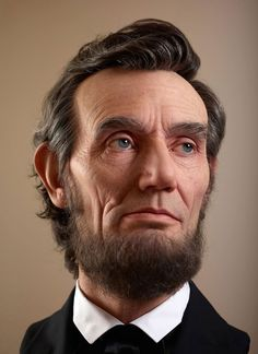 """Hollywood special effects artist Kazuhiro Tsuji has made a hyper realistic sculpture called """"Portraits of Lincoln"""". Abraham Lincoln, 3d Portrait, Portraits, The Grinch, Hyperrealistic Art, Men In Black, Hollywood, American Presidents, Jolie Photo"""