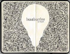 moleskine_doodles__imagination_is_power_by_kerbyrosanes-d6f70r1