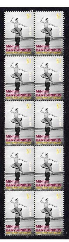 Mikhail Baryshnikov NY Ballet Strip of 10 Mint Stamps 2 | eBay