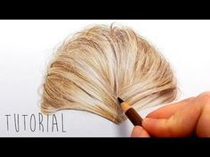 Tutorial | How to draw realistic blonde hair with colored pencils | Emmy Kalia - YouTube
