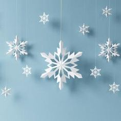 Whether it's a school project, or you wish to decorate the house or a Christmas tree, making a paper snowflakes is easy. Read the Buzzle article to find the step-by-step explanation. (How To Make Christmas Snowflakes) Diy Christmas Fireplace, Diy Christmas Snowflakes, 3d Paper Snowflakes, Snowflake Craft, Christmas Paper, Christmas Crafts For Kids, Holiday Crafts, Christmas Ornaments, Diy Snowflake Decorations