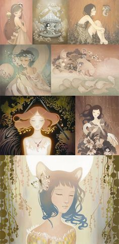 During my study years I already fell in love with Amy Sol 's illustration. Her work can transport you to another world and expend one's . Rodin, Amy Sol, What To Draw, Another World, Awesome, Amazing, Wednesday, Inspirational, Watercolor