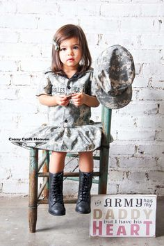 ACU Dress, Army dress,(All Brances) ACU dress, Toddler, Military inspired dress, welcome home outfit, maines, military, Military pageant
