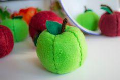 Felt apples, felt food Felt Food, Apples, Watermelon, Fruit, Sewing, Dressmaking, Sew, Stitching, Apple