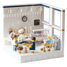Ice cream shop Source by dgutzmann Lego City, Instructions Lego, Lego Furniture, Minecraft Furniture, Lego Store, Shop Lego, Lego Pictures, Lego Craft, Lego For Kids
