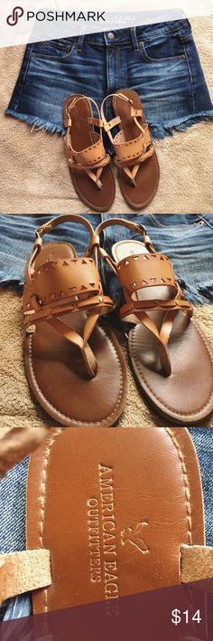 American Eagle Sandals Gently worn a few times. Condition is like new! True to size.  (note: only selling sandals, NOT the shorts) American Eagle Outfitters Shoes Sandals
