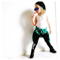 """Little Wonderland Clothing on Instagram: """"Sunday Funday... More like Strut-in Sunday!  Abby with her little Rockstar self.. Looking all Rad, singing in her lollipop Workin it! In our STRUT leggings + shades @subsidyshades + beanie @ciao_co + boots @sophs_shoetique14  Going on with your bad self!!  #bossy #fashion #fashionista #kidsfashion #boy #streetwear #hiphop #hipkidfashion #trendy #style #igkiddies #stylish #stylishkids #toddler #littlewonderlandclothing #love #ootd #harem"""