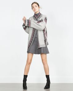 ETHNIC PRINT COAT - Knitwear - WOMAN | ZARA United States