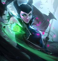 "Pixar Drawing thecomicninja: ""Maleficent by Ross Tran "" - Disney Magic, Disney Princess Art, Disney Kunst, Disney Fan Art, Disney Love, Princess Moana, Disney Animation, Disney Drawings, Cartoon Drawings"