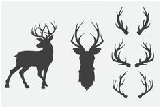 Free Craft Antlers Pack by TheHungryJPEG | TheHungryJPEG.com