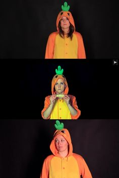 THE HOLY TRINITY IN CARROT ONSIES.