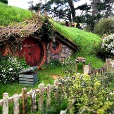 Online shopping from a great selection at Patio, Lawn & Garden Store. Fairy Houses, Play Houses, Beautiful Homes, Beautiful Places, Fairytale House, Underground Homes, Earth Homes, Little Houses, The Hobbit