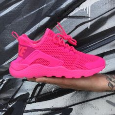 "c8842d274405 Fice Gallery And Boutique on Instagram  ""The Nike Air Huarache Run Ultra  for Ladies gets that In Your Face type of Color Treatment.. Pink Blast Fire  Pink ..."