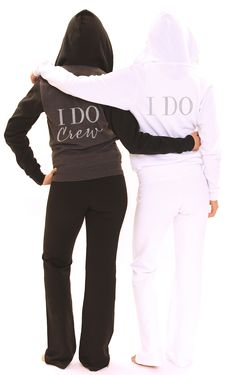 The Perfect Gift for the Bride or Bridal Party is a cozy fleece hoodie!