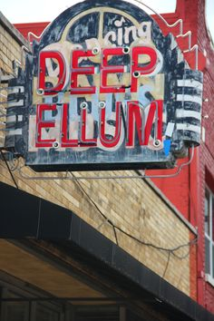 Deep Ellum neon sign over Dancing to Damn Music neon sign - Dallas, Texas Vintage Neon Signs, Vintage Menu, Eyes Of Texas, Texas Travel, Dallas Travel, Pompe A Essence, Only In Texas, Loving Texas, Texas Pride